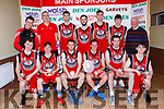 St Marys team that won the Div 1 mens final against killorglin CYMS at the St Marys Basketball Blitz on Saturday front row l-r: David Lynch, Jonatham Hillard, Michael Cahill, Sean brosnan, Dan o'Shea, Nathan Nolan. Back row: Jack curran, Maurice Casey, Adam Nolan, Darragh O'Connell, Shane O'Connor, Adam Donoghue and John Brosnan