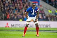 Twickenham, United Kingdom. 7th February, French Flanker, Yacouba CAMARA. England vs France, 2019 Guinness Six Nations Rugby Match   played at  the  RFU Stadium, Twickenham, England, <br /> &copy; PeterSPURRIER: Intersport Images