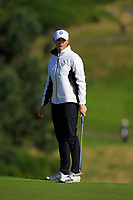 Charley Hull of Team Europe on the 8th green during Day 1 Foursomes at the Solheim Cup 2019, Gleneagles Golf CLub, Auchterarder, Perthshire, Scotland. 13/09/2019.<br /> Picture Thos Caffrey / Golffile.ie<br /> <br /> All photo usage must carry mandatory copyright credit (© Golffile | Thos Caffrey)