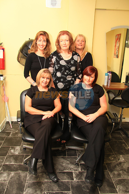 Precision Hair and Beauty staff members (front row); Brenda Daly, Christine Cruise, (back row) Rachel Murphy, Manager Ann Ryan and Frances Curtis..Picture: Shane Maguire / www.newsfile.ie.
