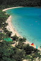 Magens Bay beach from above. St. Thomas, US Virgin Islands Magens Bay.