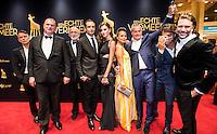 UTRECHT - NFF. Nederlands Film Festival. De hele crew op de rode loper tijdens de premiere van de film Een echte Vermeer.  FOTO DESIREE SCHIPPERS