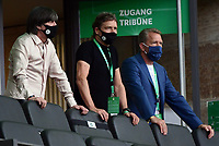 v.l. Trainer Joachim JOGI Loew (Deutsche Fussball Nationalmannschaft DFB), Co Trainer Marcus Sorg (Deutsche Fussball Nationalmannschaft DFB), Torwart Trainer Andreas Koepke (Deutsche Fussball Nationalmannschaft DFB)<br /> <br />  - 04.07.2020, Fussball DFB Pokal Finale, Bayer 04 Leverkusen - FC Bayern Muenchen emspor, v.l. Innenansicht Olympiastadion<br /> <br /> Foto: Kevin Voigt/Jan Huebner/Pool/Marc Schueler/Sportpics.de<br /> <br /> (DFL/DFB REGULATIONS PROHIBIT ANY USE OF PHOTOGRAPHS as IMAGE SEQUENCES and/or QUASI-VIDEO - Editorial Use ONLY, National and International News Agencies OUT)