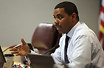 Nevada Senate Majority Leader Steven Horsford, D-North Las Vegas, speaks in committee at the Legislature in Carson City, Nev., on Friday, March 18, 2011..Photo by Cathleen Allison