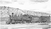 RGS 4-6-0 #20 at Dolores with an eight-car stock train.<br /> RGS  Dolores, CO  Taken by Richardson, Robert W. - 10/10/1945
