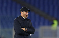 Football, Serie A: AS Roma - Brescia FC, Olympic stadium, Rome, November 24, 2019. <br /> AS Roma' s coach Paulo Fonseca speaks to his players during the Italian Serie A football match between Roma and Brescia at Olympic stadium in Rome, on November 24, 2019. <br /> UPDATE IMAGES PRESS/Isabella Bonotto