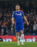 Branislav Ivanovic of Chelsea during the UEFA Champions League Round of 16 2nd leg match between Chelsea and PSG at Stamford Bridge, London, England on 9 March 2016. Photo by Andy Rowland.