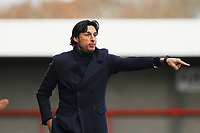 Crawley Town manager Gabriele Cioffi during Crawley Town vs Fleetwood Town, Emirates FA Cup Football at Broadfield Stadium on 1st December 2019