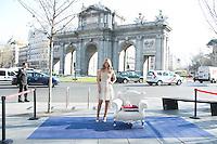 Edurne attend the Cinderella Movie Presentation at Puerta de Alcala, Madrid,  Spain. March 16, 2015.(ALTERPHOTOS/)Carlos Dafonte) /NORTEphoto.com