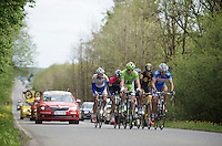 the early 6 man breakaway group quickly manages to force a gap between them and the peloton which will get as wide as 16 minutes at one point in the race<br /> <br /> Liège-Bastogne-Liège 2014