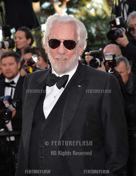 Actor Donald Sutherland at the gala premiere for &quot;The Last Face&quot; at the 69th Festival de Cannes.<br /> May 20, 2016  Cannes, France<br /> Picture: Paul Smith / Featureflash