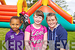Ethen Sigler, Lauren Pitman and Jade Powell pictured at the childrens fun day at Kevin Barrys Villas on Friday.
