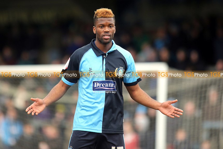 Joel Grant of Wycombe - Wycombe Wanderers vs Accrington Stanley - NPower League Two Football at Adams Park, High Wycombe - 29/03/13 - MANDATORY CREDIT: Paul Dennis/TGSPHOTO - Self billing applies where appropriate - 0845 094 6026 - contact@tgsphoto.co.uk - NO UNPAID USE.