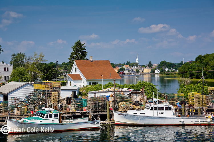Lobster Boats near Portsmouth on the Piscataqua River, Portsmouth, NH, USA