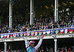 November 3, 2018: Frankie Dettori, on Enable #2, wins the Longines Breeders' Cup Turf on Breeders' Cup World Championship Saturday at Churchill Downs on November 3, 2018 in Louisville, Kentucky. Casey Phillips/Eclipse Sportswire/CSM