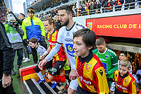 20191221 - LENS , FRANCE : players of Lens and Niort with captains Guillaume Gillet (L) and Matthieu Sans (R) ready to enter the pitch pictured before the soccer match between Racing Club de LENS and Niort , on the 19 th matchday in the French Ligue 2 at the Stade Bollaert Delelis stadium , Lens . Saturday 21 December 2019. PHOTO STIJN AUDOOREN   SPORTPIX.BE