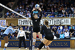 DURHAM, NC - NOVEMBER 24: Duke's Emma Paradiso (TUR) (8). The Duke University Blue Devils hosted the University of North Carolina Tar Heels on November 24, 2017 at Cameron Indoor Stadium in Durham, NC in a Division I women's college volleyball match. Duke won 3-0 (25-21, 25-22, 25-20).