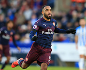 9th February 2019, The John Smith's Stadium, Huddersfield, England; EPL Premier League football, Huddersfield versus Arsenal; Alexandre Lacazette of Arsenal