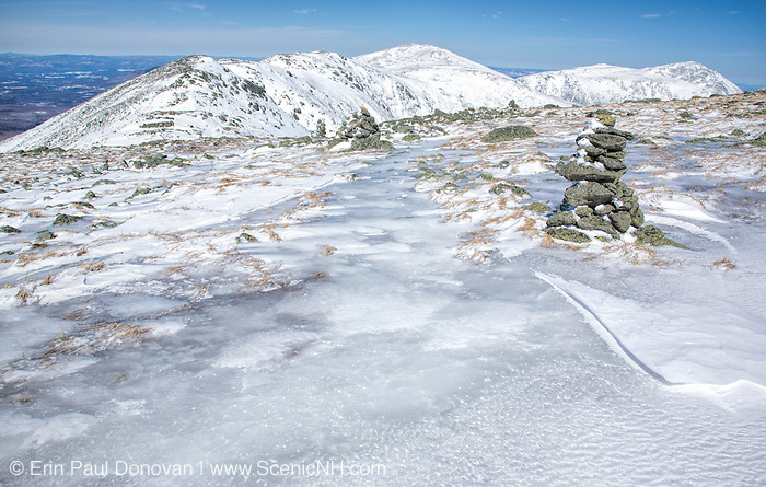 The Northern Presidential Range from the Appalachian Trail,on Mt Washington, in the White Mountains of New Hampshire during the winter months.