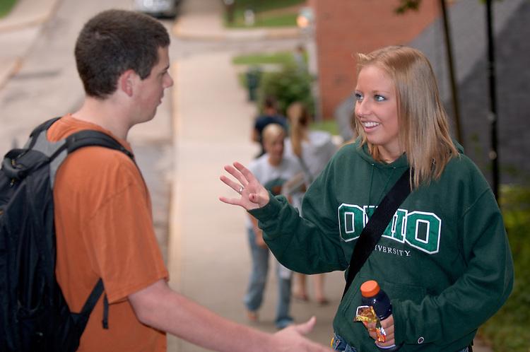 17805Campus Shots: Students...Bethany Wilson, Matt Starkey