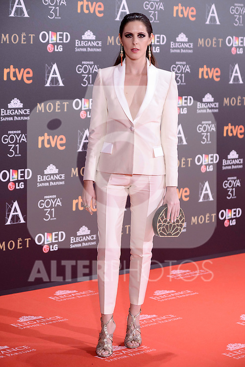 Barbara Santa Cruz attends to the Red Carpet of the Goya Awards 2017 at Madrid Marriott Auditorium Hotel in Madrid, Spain. February 04, 2017. (ALTERPHOTOS/BorjaB.Hojas)