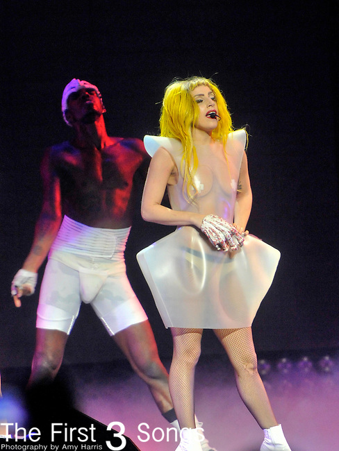 Lady Gaga performs during The Monster Ball Tour at the Shottenstein Center in Columbus, Ohio.