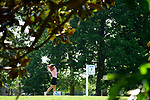 HOUSTON, TX - MAY 19: Alexa Capesius of Missouri St. Louis tees off during the Division II Women's Golf Championship held at Bay Oaks Country Club on May 19, 2018 in Houston, Texas. (Photo by Justin Tafoya/NCAA Photos via Getty Images)