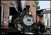 D&amp;RGW #463 in engine shop.  Marked as in Alamosa but most likely in Antonito.<br /> D&amp;RGW  Antonito ?, CO  Taken by Berkstresser, George