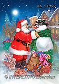 CHRISTMAS SANTA, SNOWMAN, WEIHNACHTSMÄNNER, SCHNEEMÄNNER, PAPÁ NOEL, MUÑECOS DE NIEVE, paintings+++++,KL5485V,#X#