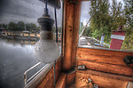 An old river boat from Holland with light bulb
