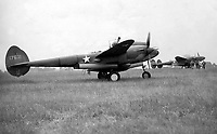 BNPS.co.uk (01202 558833)<br /> Pic: MilitaryAviationMuseum/BNPS<br /> <br /> USAF Lockheed Lightning's arrived at RAF Goxhill shortly after it became the first US base in wartime Britain in July 1942.<br /> <br /> A historic World War Two airfield control tower which helped protect Britain's skies has been transported 4,000 miles to a museum in the United States.<br /> <br /> The monument at RAF Goxhill in North Lincolnshire was dismantled brick by brick before the materials were shipped across the Atlantic to the Military Aviation Museum in Pungo, Virginia.<br /> <br /> The watchtower has been reassembled to look how it would have seven decades ago and is now open to visitors.<br /> <br /> Goxhill was the first airfield to be allocated to the Americans during the conflict, with General D. Eisenhower attending the handover ceremony in August 1942.<br /> <br /> The three year project to relocate the structure, which has cost about £75,000, was overseen by the museum's owner Jerry Yagen. When he heard the watchtower was languishing in a derelict state on the site of the former British airfield, he decided to save it to 'preserve its legacy'.
