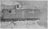 RGS caboose #04xx5 is a converted box car with cupola and three windows.<br /> RGS  near Gallagher, CO  Taken by Virden, Walter - 1920