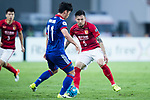 Guangzhou Defender Zhang Linpeng (R) plays against zSuwon Midfielder Kim Minwoo (L) during the AFC Champions League 2017 Group G match between Guangzhou Evergrande FC (CHN) vs Suwon Samsung Bluewings (KOR) at the Tianhe Stadium on 09 May 2017 in Guangzhou, China. Photo by Yu Chun Christopher Wong / Power Sport Images