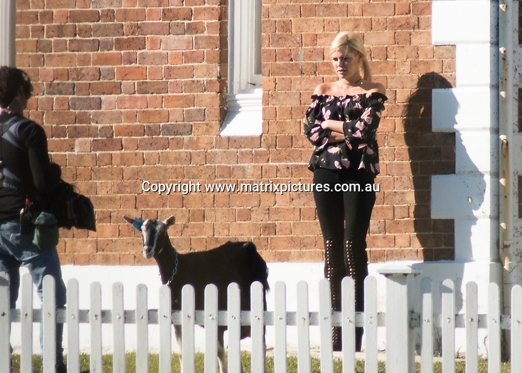 18 July 2017 SYDNEY AUSTRALIA<br /> WWW.MATRIXPICTURES.COM.AU<br /> <br /> EXCLUSIVE PICTURES<br /> The Bachelorette, Sophie Monk on a date milking Goats and collecting pails of Goats Milk. Later in the evening a band played in one of the barns , fairy lights were scattered through the trees as the band played easy music to the two exhausted milk maids at Peninsula House, Tebbutt Observatory, Windsor, NSW on 21 July 2017<br /> <br /> *No internet without clearance*.<br /> <br /> MUST CALL PRIOR TO USE <br /> <br /> +61 2 9211-1088. <br /> <br /> Matrix Media Group.Note: All editorial images subject to the following: For editorial use only. Additional clearance required for commercial, wireless, internet or promotional use.Images may not be altered or modified. Matrix Media Group makes no representations or warranties regarding names, trademarks or logos appearing in the images.