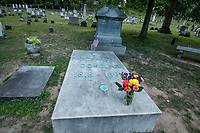 Frederick Douglass Grave, Mt. Hope Cemetery, Rochester NY, July 2018.  (Photo by Brian Cleary/bcpix.com