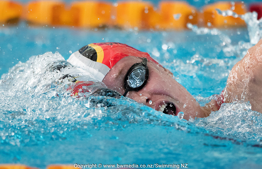 Gina McCarthy winning the Final of the Women 400SC meter IM, at the New Zealand Short Course Swimming Championships, National Aquatic Centre, Auckland, New Zealand, Friday 4th October 2019. Photo: Brett Phibbs/www.bwmedia.co.nz/SwimmingNZ
