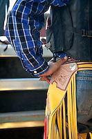 Cowboy in chaps.  Mareeba Rodeo, Mareeba, Queensland, Australia
