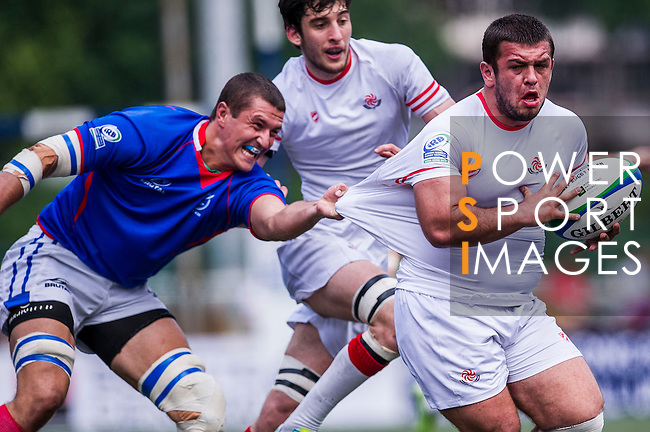 Georgia vs Namibia during the Day 4 of the IRB Junior World Rugby Trophy 2014 at the Hong Kong Football Club on April 15, 2014 in Hong Kong, China. Photo by Xaume Olleros / Power Sport Images