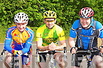 Michael Healy Tralee, Stephen O'Shea Killorglin and John Cooney who cycled in the annual Currow CC race on Sunday          Copyright Kerry's Eye 2008