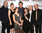 Director Robert Falls, Glenne Headly, Juliet Brett, Bill Pullman, Playwright Beth Henley, Amy Madigan and Ed Harris attend the Opening Night Party for 'the New Group Production of 'The Jacksonian' at Ktchn in The Out on November 7, 2013  in New York City.