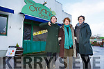 Lilian and Colette Leask and Ita McConville highlight the concern of the impending VAT increase which will impact their business at the Milltown Organic Store on Friday.
