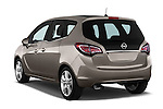 Rear Three Quarter View 2014 Opel MERIVA Cosmo 5 Door Mini MPV 2WD Stock Photo