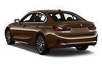 Car pictures of rear three quarter view of a 2019 BMW 3-Series  Sport 4 Door Sedan angular rear