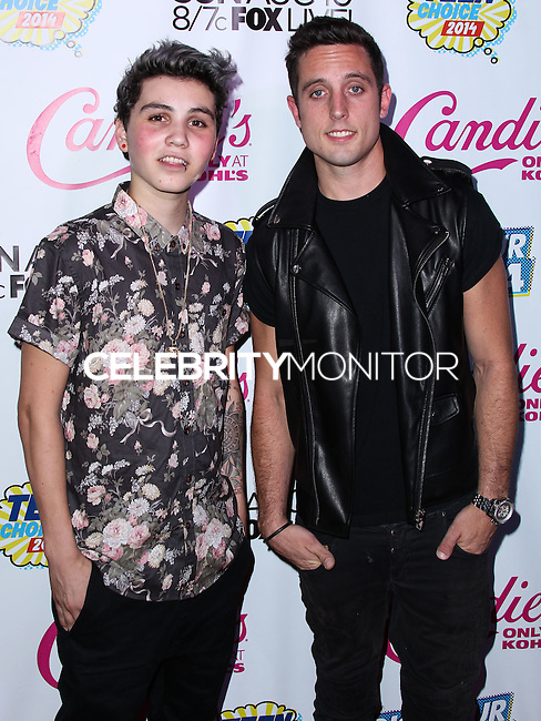 BEVERLY HILLS, CA, USA - AUGUST 09: Sam Pottorff, Sawyer Hartman at the DigiTour and Candie's Official Teen Choice Awards 2014 Pre-Party held at The Gibson Showroom on August 9, 2014 in Beverly Hills, California, United States. (Photo by Xavier Collin/Celebrity Monitor)