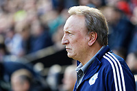 Cardiff manager Neil Warnock stands on the touch line during the Sky Bet Championship match between Swansea City and Cardiff City at the Liberty Stadium, Swansea, Wales, UK. Sunday 27 October 2019