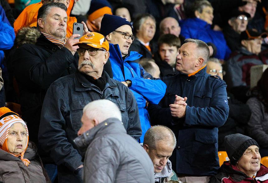 Blackpool fans take their seats before the match<br /> <br /> Photographer Alex Dodd/CameraSport<br /> <br /> The EFL Sky Bet League One - Blackpool v Gillingham - Tuesday 21st November 2017 - Bloomfield Road - Blackpool<br /> <br /> World Copyright &copy; 2017 CameraSport. All rights reserved. 43 Linden Ave. Countesthorpe. Leicester. England. LE8 5PG - Tel: +44 (0) 116 277 4147 - admin@camerasport.com - www.camerasport.com