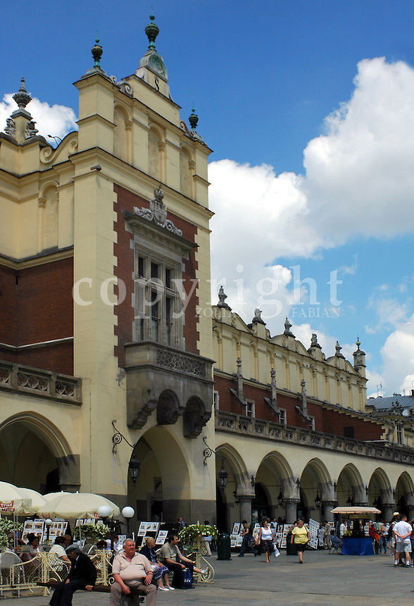 Detail of the cloth hall on the main square of Cracow, Poland, Europe