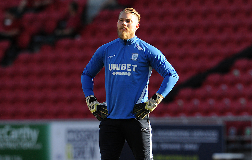 Preston North End's Connor Ripley during the pre-match warm-up <br /> <br /> Photographer Ian Cook/CameraSport<br /> <br /> The EFL Sky Bet Championship - Bristol City v Preston North End - Wednesday July 22nd 2020 - Ashton Gate Stadium - Bristol <br /> <br /> World Copyright © 2020 CameraSport. All rights reserved. 43 Linden Ave. Countesthorpe. Leicester. England. LE8 5PG - Tel: +44 (0) 116 277 4147 - admin@camerasport.com - www.camerasport.com