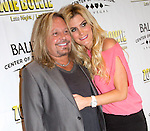 JULY 25 2013: Opening night 'Zowie Bowie Late Night' show at Bally's Las Vegas  Motley Crue Singer Vince Neil (L) and girlfriend Rain Andreani
