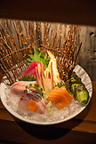 USA, Colorado, Aspen, a sashimi appetizer at Matshuhisa Restaurant, downtown Aspen